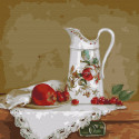 Натюрморт с белым кувшином. Бузин Раскраска картина по номерам на холсте KH0730