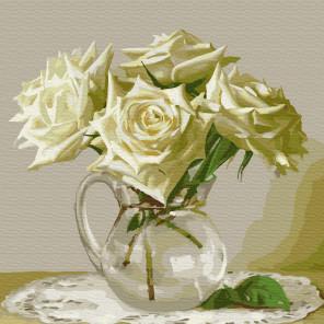 Пять роз. Бузин Раскраска картина по номерам на холсте KH0731