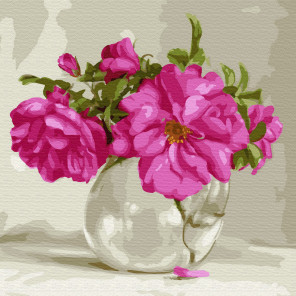 Розовый букет. Бузин Раскраска картина по номерам на холсте KH0733