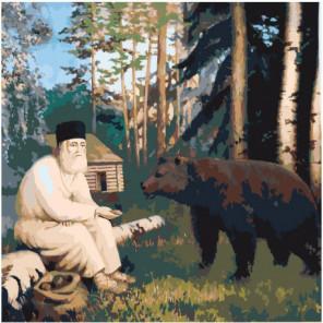 Преподобный Серафим Саровский Раскраска картина по номерам на холсте