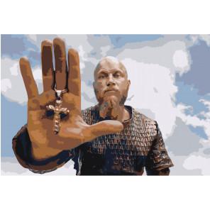 Рагнар Лодброк. Викинги 80х120 Раскраска картина по номерам на холсте