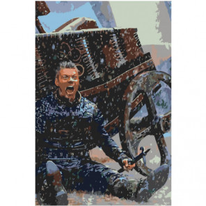 Ярость викинга 80х120 Раскраска картина по номерам на холсте