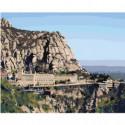 Монастырь Монтсеррат в Испании 80х100 Раскраска картина по номерам на холсте