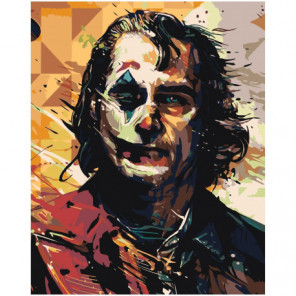 Джокер Абстракция 80х100 Раскраска картина по номерам на холсте