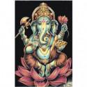 Индийский Бог Ганеша 80х120 Раскраска картина по номерам на холсте