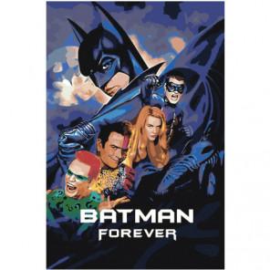 Бэтмен навсегда 80х120 Раскраска картина по номерам на холсте