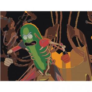 Рик и Морти pickle rick Раскраска картина по номерам на холсте