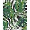 Тропические листья и полосы Раскраска картина по номерам на холсте