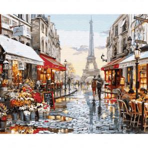 Окно в Париж Картина по номерам на дереве KD0621