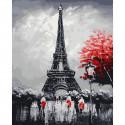 Вечер в Париже Картина по номерам на дереве KD0688