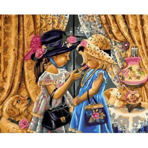 Мамины дочки Раскраска картина по номерам на холсте GX30540