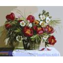 Красные пионы Раскраска картина по номерам на холсте GX34571