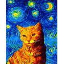 Вечерний кот Раскраска картина по номерам на холсте GX35619
