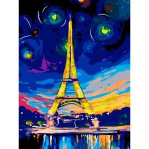 Ночь в Париже Раскраска картина по номерам на холсте EX5217