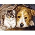 Вместе теплее Раскраска картина по номерам на холсте EX5951