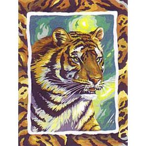 Тигр Раскраска картина по номерам на холсте EX6085
