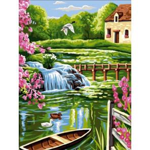 Домик у воды Раскраска картина по номерам на холсте EX6093