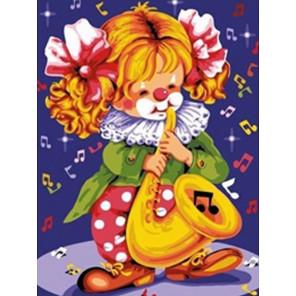 Музыкальный клоун Раскраска картина по номерам на холсте EX6104