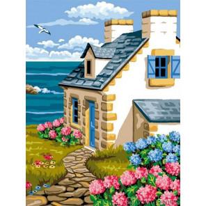 Дом у моря Раскраска картина по номерам на холсте EX6105