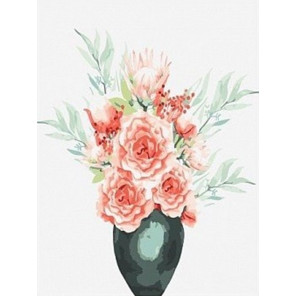 Акварельные розы Раскраска картина по номерам на холсте EX6304