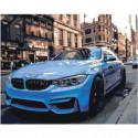 Спортивный автомобиль BMW M4 Раскраска картина по номерам на холсте