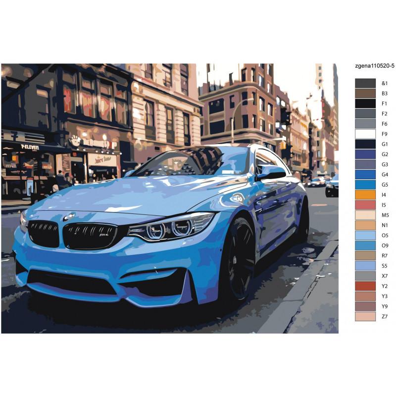 Спортивный автомобиль BMW M4 80х100 Раскраска картина по ...