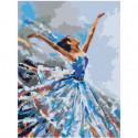 Танцующая балерина 30х40 Раскраска картина по номерам на холсте