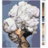 Девушка с белым букетом на голове Раскраска картина по номерам на холсте