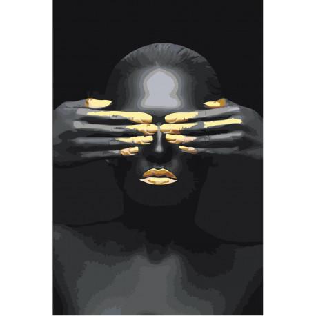 Африканка с закрытыми глазами Раскраска картина по номерам ...