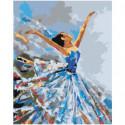 Танцующая балерина 40х50 Раскраска картина по номерам на холсте