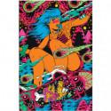 Девушка на скейте поп-арт Раскраска картина по номерам на холсте