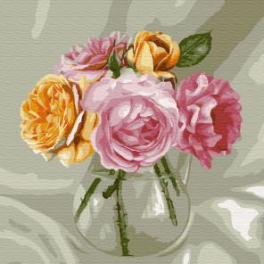 Букет из роз. Бузин Раскраска картина по номерам на холсте KH0724