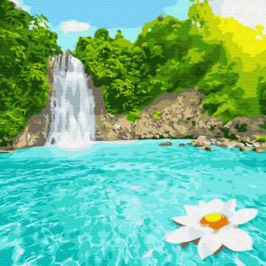 Райский уголок Раскраска картина по номерам на холсте KH0693