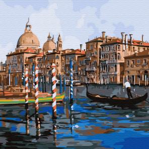 Каналы Венеции Раскраска картина по номерам на холсте KH0719