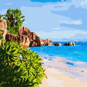 На далеких берегах Раскраска картина по номерам на холсте KH0720