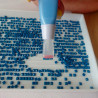 3-местный Стилус с подсветкой голубой для алмазной мозаики 9412484