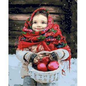 Русская красавица Раскраска картина по номерам на холсте GX35659