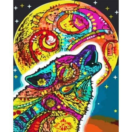 Разноцветная луна Раскраска картина по номерам на холсте GX34717