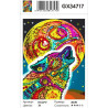 Сложность и количество цветов Разноцветная луна Раскраска картина по номерам на холсте GX34717