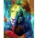 Небесные львы Раскраска картина по номерам на холсте GX33704