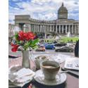 Казанский кафедральный собор Раскраска картина по номерам на холсте MCA828
