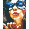 Воздушный поцелуй Раскраска картина по номерам на холсте MCA881