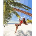 Райские качели Раскраска картина по номерам на холсте GX34951