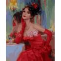 Дама из прошлого Раскраска картина по номерам на холсте MCA857