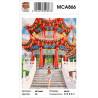 Сложность и количество цветов Китайский храм Раскраска картина по номерам на холсте MCA866