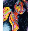 Знойная красотка Раскраска картина по номерам на холсте MCA879
