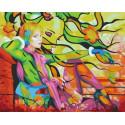 Уличный арт Раскраска картина по номерам на холсте MCA873