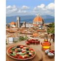 Пицца по-итальянски Раскраска картина по номерам на холсте MCA814