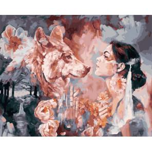 Мысли волка Раскраска картина по номерам на холсте GX25337