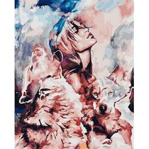 Песня волка Раскраска картина по номерам на холсте GX25878